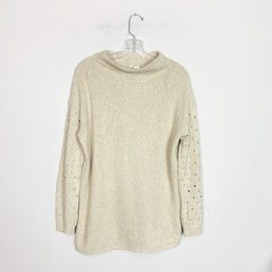 Anthropologie Moth | wide neck oversized sweater M